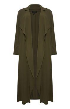 Primark - Khakifarbener, langer Mantel