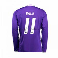 Billige Fodboldtrøjer Real Madrid 2016-17 Bale 11 Langærmet Udebanetrøje
