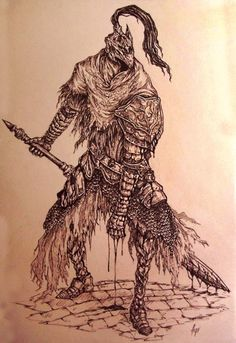 inquissien: Knight Artorias - the abysswalkerDamn, this guys armor is such a pleasure to draw for someone who's obsessed with details (like me)