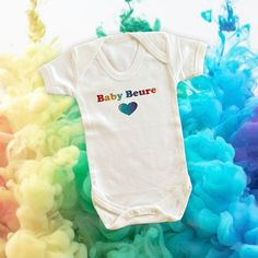 Rainbow baby vest. Design your own. Rainbow Baby Onesie, Baby Vest, Baby Grows, Baby Bodysuit, One Pic, Infant, Child, Boutique, Group