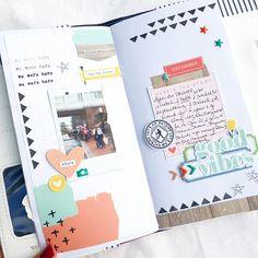 Anabelle's TN (Gossamer Blue Scrapbook Journal, Scrapbook Albums, Bujo, Gossamer Blue, Journaling, Bullet Journal, Journal Diary, Journal Notebook, Junk Journal