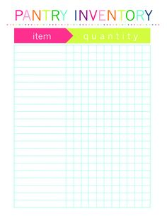 Inventory Freezer Pantry Fridge Printable by TheOrderlyHome