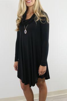 Plain Draped Ruffle Collar Long Sleeve Mini Dress