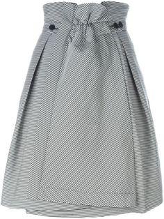 Jil Sander Navy полосатая юбка А-силуэта