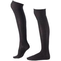 Black Cool & Cosy Long Socks ($15) ❤ liked on Polyvore