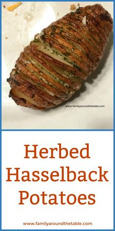 Herbed Hasselback Potatoes Family Around the Table Holiday Side Dishes, Best Side Dishes, Side Dish Recipes, Top Recipes, Easy Vegetable Side Dishes, Vegetable Recipes, Vegetarian Recipes, Veggie Side, Delicious Recipes