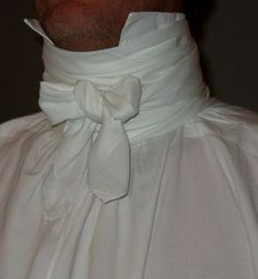 How to tie a cravat (Regency-era neckcloth.)