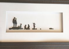 Family of 5 with puppy too pebble art by sharon nowlan 8 by 15