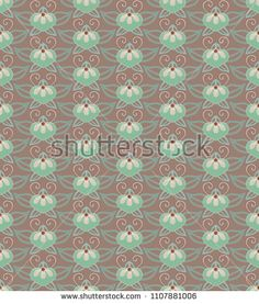 seamless ornamental pattern with stylised orchids in a Japanese style Ornament Pattern, Japanese Patterns, Japanese Style, Orchids, Ornaments, Illustration, Image, Pictures, Japan Style