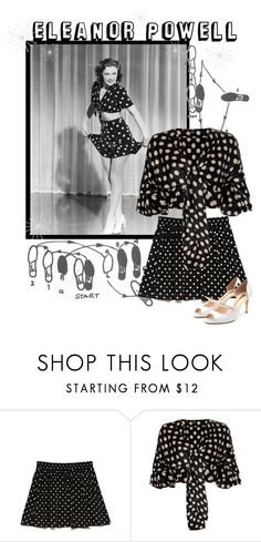 """Eleanor Powell"" by retrorose ❤ liked on Polyvore featuring Forever 21, Johanna Ortiz and Rupert Sanderson"