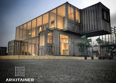 B D's media content and analytics Container Shop, Container Cabin, Container House Plans, Container House Design, Shipping Container Buildings, Shipping Container Home Designs, Shipping Containers, Container Architecture, Architecture Design