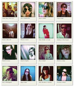The many faces of Oliver & Claire Goldsmith. Fabulous eyewear designs!