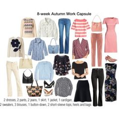 8 week autumn work wardrobe capsule