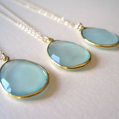 blue green crystal necklace