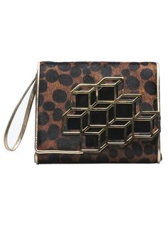 Cube clutch in brown from Pierre Hardy.