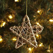 Rattan Star Ornament - Gold