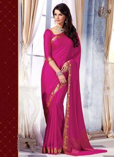 Friendliness Magenta Kanchipuram Silk Saree