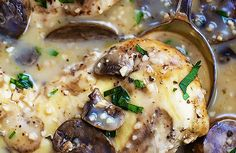 SLOW COOKER CHICKEN MARSALA          PREP TIME  10 mins      COOK TIME  6 hours      TOTAL TIME  6 hours 10 mins          Author: Tiffany  Recipe type: Main Dish  Cuisine: Italian  Serves: 4      INGREDIENTS     4 boneless skinless chicken breasts   salt and pepper to taste (I used about ½ teaspoon of each) Chicken Mushroom Recipes, Easy Chicken Parmesan, Chicken Recipes, Slow Cooker Chicken Marsala, Chicken Marsala Sauce, Healthy Crockpot Recipes, Meat Recipes, Slow Cooker Recipes, Crockpot Meals