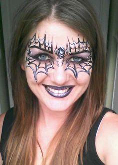 spider-web-face-paint-ideas