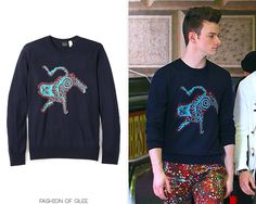 Kurt Hummel wears a @PaulSmithDesign sweater in 'Dreams Come True' on #Glee:  PS by Paul Smith Tiger Print Sweater - Worn with: Paul Smith pants