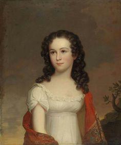 19th-century American Women: American Women by Jacob Eichholtz 1776-1842, Miss Julia Nicklin 1823