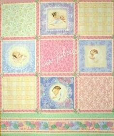 Bessie Pease Fabric Victorian Baby COTTON Quilt by NsewFabrics