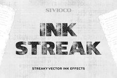 Ink Streak – Illustrator Actions by Sivioco on @creativemarket