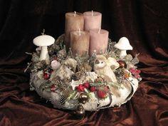 Adventskranz+Verschneite+Vögel+von+fleuromantic+auf+DaWanda.com