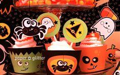 cute halloween decorations | 11_halloween+party+decoration+ideas+papercrafts+kit+bat+vampire ...
