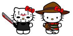 Hello Kitty Freddy and Jason by ~Brandtk on deviantART