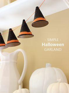 DIY witches hats - a Halloween garland craft