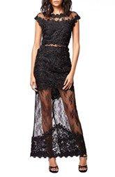 Topshop Illusion Lace Maxi Dress (Regular & Petite)