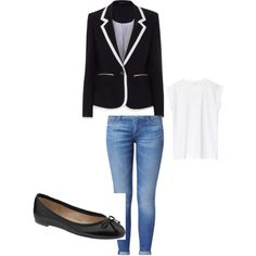 Jeans and elegant blazer ;-)