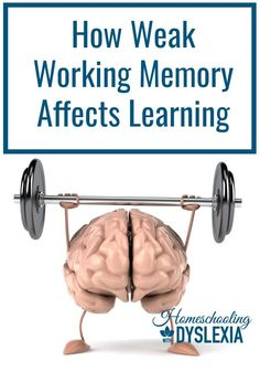 Working Memory and Learning Struggles Dyslexia Strategies, Reading Strategies, Memory Strategies, Teaching Reading, Teaching Kids, Dyslexia Teaching, Reading Difficulties, Working Memory, Pregnancy Workout
