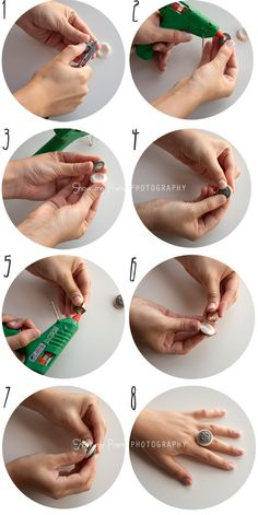 How to make a ring using buttons