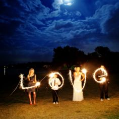 not sure how they did this but I would love to have this done at my wedding