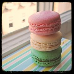 France, macaroons. Hands down a Sunday morning after church staple for my family.