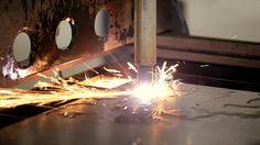 Plasma cutting is a process that cuts through...