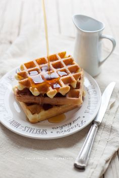 Crispy waffle by Trattoria da Martina Crepes And Waffles, Pancakes, Brunch Recipes, Sweet Recipes, Happiness Recipe, My Favorite Food, Favorite Recipes, Crispy Waffle, Healthy Breakfast Smoothies