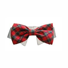 Your preppy pup will look fun and festive in this sophisticated dog shirt collar! The Christmas Tartan Dog Shirt Collar & Bow Tie is a perfect fit for times when a more formal look is required. Sweet