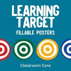 Learning Target Fillable PDF PostersDo you need to post your learning targets? Use these fillable PDF posters for any subject or grade level! Easily fill out, print, and post your Learning Targets in your classroom. Try out the fillable functionality by downloading our preview version!What's included: 8 fillable subject labels (2 per page) 4 fillable learning target posters 4 large coordinating targets 4 coordinating borders Thanks for stopping by!