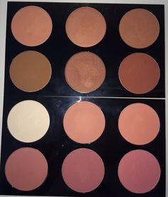 MAC Blush Pallet~ Cantaloupe, Sunbasque, Eternal Sun, Blunt, Sweet As Cocoa, Raizin, Emphasize, Melba, Peaches, Pinch Me, Desert Rose, Fleur Power