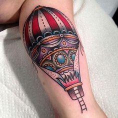 Cool hot air balloon tattoo