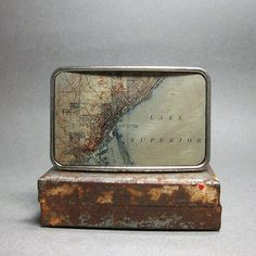 Belt Buckle Vintage Duluth Minnesota Lake Superior Map on Etsy, $36.09 CAD