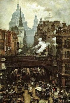 An Old Photo Of Ludgate Circus In The City Of London England With St Paul's Cathedral In Background