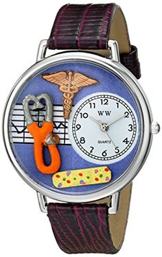 Whimsical Watches Unisex US0620050 Nurse 2 Analog Display Japanese Quartz Purple Watch - http://www.artistic-watches.com/2016/05/16/whimsical-watches-unisex-us0620050-nurse-2-analog-display-japanese-quartz-purple-watch/