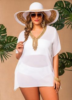 Cheap Plus Size Summer Dresses You are in the right place about Plus Size Summer Outfits florida Here we offer you the most beautiful pictures about the Plus Size Summer Outfits party you are looking Plus Size Bikini Bottoms, Women's Plus Size Swimwear, Curvy Fashion, Plus Size Fashion, Girl Fashion, Womens Fashion, Plus Size Summer Dresses, Plus Size Outfits, Plus Size Beach Wear
