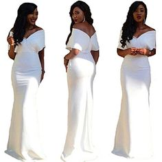 QueenBridal African Fashion Long Off Shoulder Prom Evening Dresses -- Click for Special Deals #HomecomingDresses2017