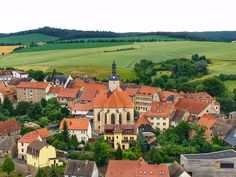 Quiet Village of Mansfeld, Germany