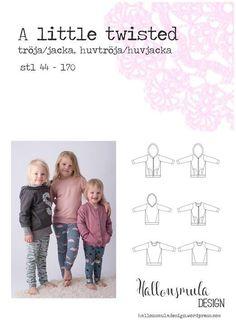 Symønster. A little twisted - jakke eller genser (med eller uten hette) 44-170